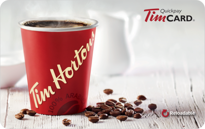 Gift Card | Tim Hortons reloadable gift card